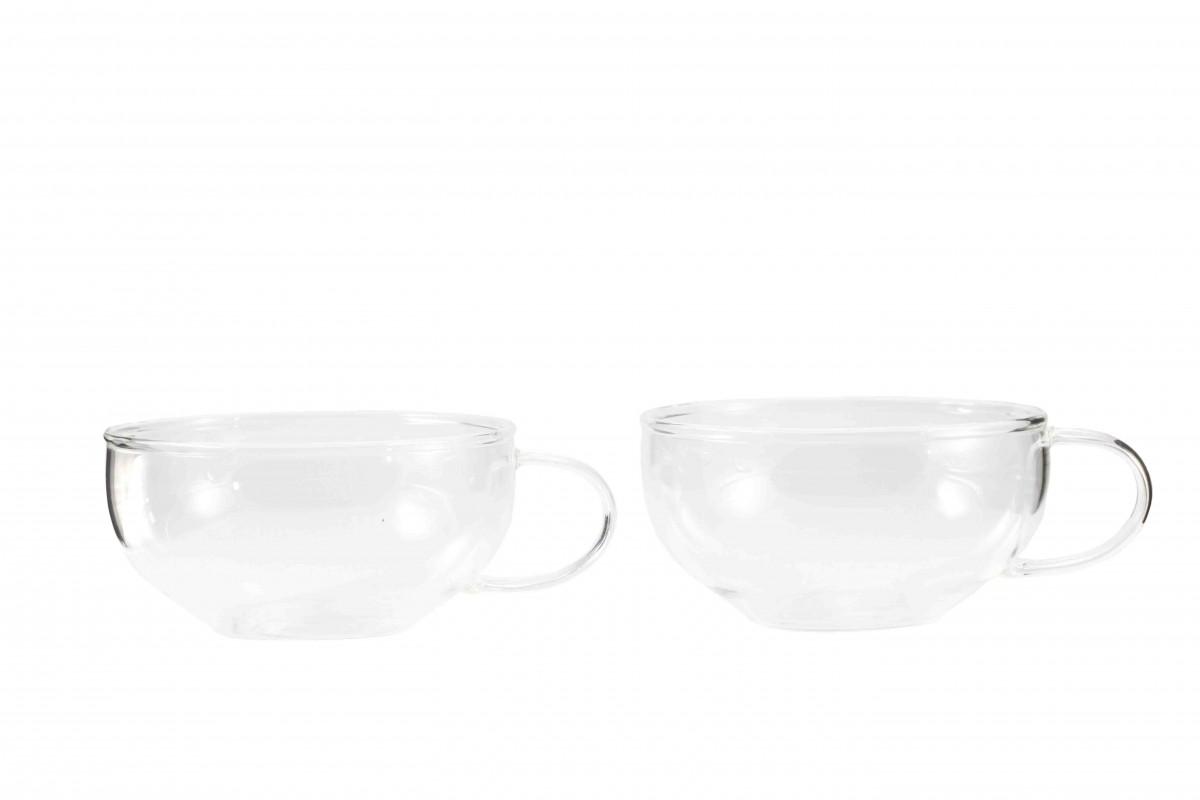 """Чашка """"Дельфиниум"""" из жаропрочного стекла. Объем 150 мл (2 шт. в уп.)"""